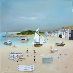 Picnic by the Shore by Lucy Young -  sized 16x16 inches. Available from Whitewall Galleries